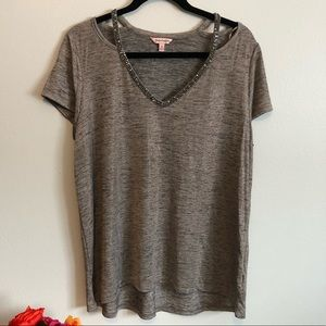 NWT Juicy Couture Sparkle Grey T-shirt